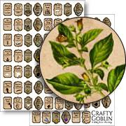 Potion Ingredient Labels Collage Sheet Set