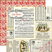 Christmas Reflections Scrapbook Paper - Joy to the World
