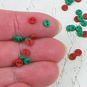 Christmas Red & Green Micro Buttons