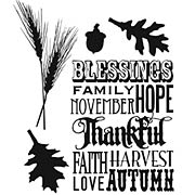 Thankful Silhouettes Cling-Mounted Stamp Set