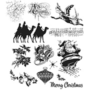 Mini Holidays Cling-Mounted Stamp Set 4 - Camels