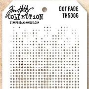 Tim Holtz Stencil - Dot Fade