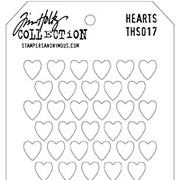 Tim Holtz Stencil - Hearts