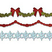 Holly and Snowflake Garland Die