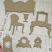 Victorian Furniture Chipboard Set 1 - Sofa