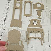 Victorian Furniture Chipboard Set 2 - Grandfather Clock
