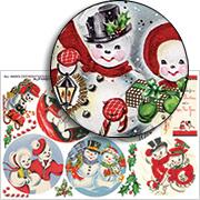 Silly Snowmen Ornaments Half Sheet