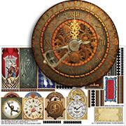 Grandfather Small Clock Facade Half Sheet