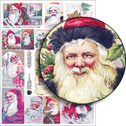 Smiling Santas Collage Sheet