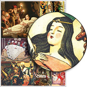 Snow White Sleeping Collage Sheet