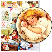 Snug in their Beds Collage Sheet