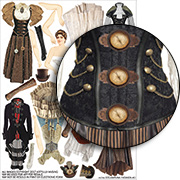 Steampunk Fashions #1 Collage Sheet
