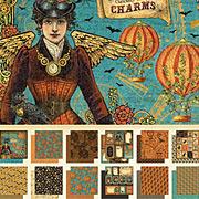 Steampunk Spells 8x8 Paper Pad