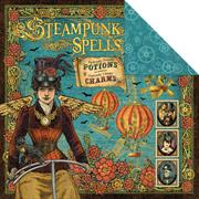 Steampunk Spells Scrapbook Paper