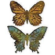 Tim Holtz Butterfly Duo Die & Embossing Folder Set