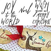 Tim Holtz - Mini Handwritten Holidays Cling Stamp Set