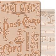 Tim Holtz - Embossing Folders - Postcard & Sheet Music