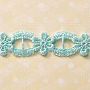 Light Blue Floral Crochet Trim
