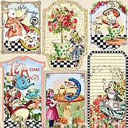 Tea in Wonderland Scrap Sheet