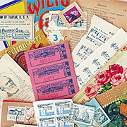 Limited Edition Vintage Ephemera Sets