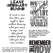 Tim Holtz Random Quotes Cling Stamp Set