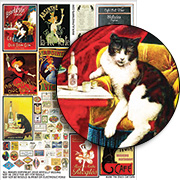 The Black Cat Cafe Collage Sheet