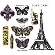 Tim Holtz French Flight Die and Stamp Set