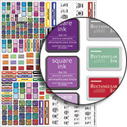 Tiny Craft Room Labels Collage Sheet