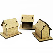 Tiny Chipboard House Kit - Set of 3