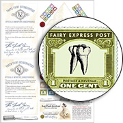 Miniature Tooth Fairy Letter Collage Sheet