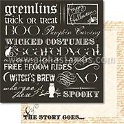 The Story Goes Scrapbook Paper