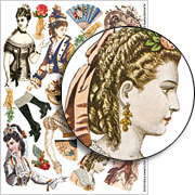 Victorian Fashions Collage Sheet