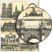 Vintage Paris Postcards Collage Sheet