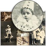 Vintage Circus Children Collage Sheet