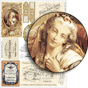 Vintage French Ads Collage Sheet