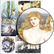 Vintage Mermaids Collage Sheet