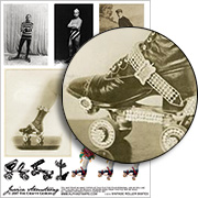 Vintage Roller Skates Collage Sheet