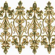 Gold Wrought Iron Dresden Scrolls