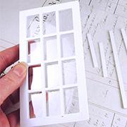 White Wooden Dollhouse Window