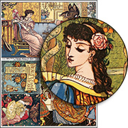 Walter Crane Beauty and the Beast Collage Sheet