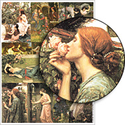Waterhouse Flowers Collage Sheet