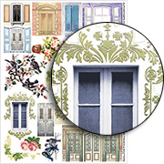 Window Frames & Shutters Collage Sheet