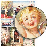 Winged Cupid Collage Sheet