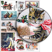 Yummy Vintage Christmas Collage Sheet