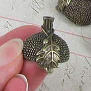 Large Bronze Oak Leaf Acorn Bead Cap