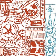 Tim Holtz - Embossing Folders - Airmail & Compass
