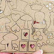 Tiny Chipboard Alice Props