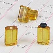 12x8mm Amber Glass Rectangular Beads*
