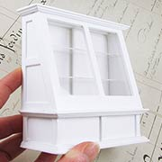 White Store Display Case - Angled Sides