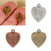 Antique Heart Charms